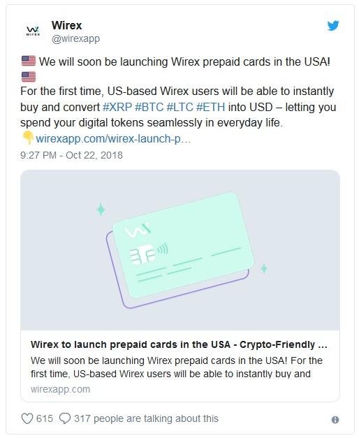 Американцам станет проще расплачиваться криптовалютой благодаря картам от Wirex