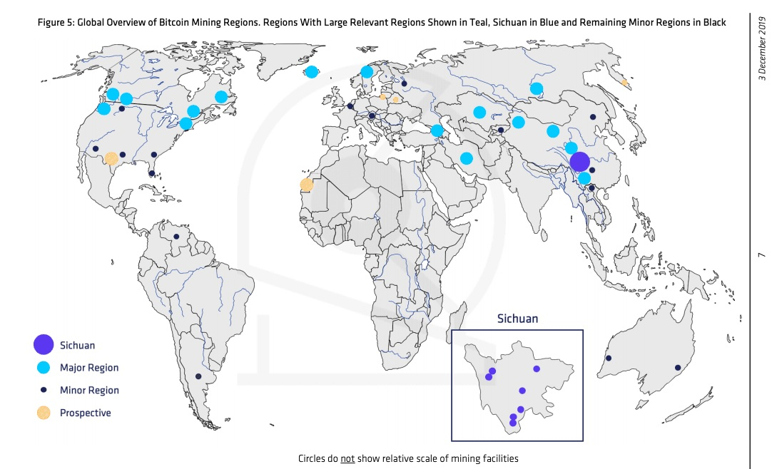 Лишь одна провинция в Китае контролирует 54% хэшрейта биткоина
