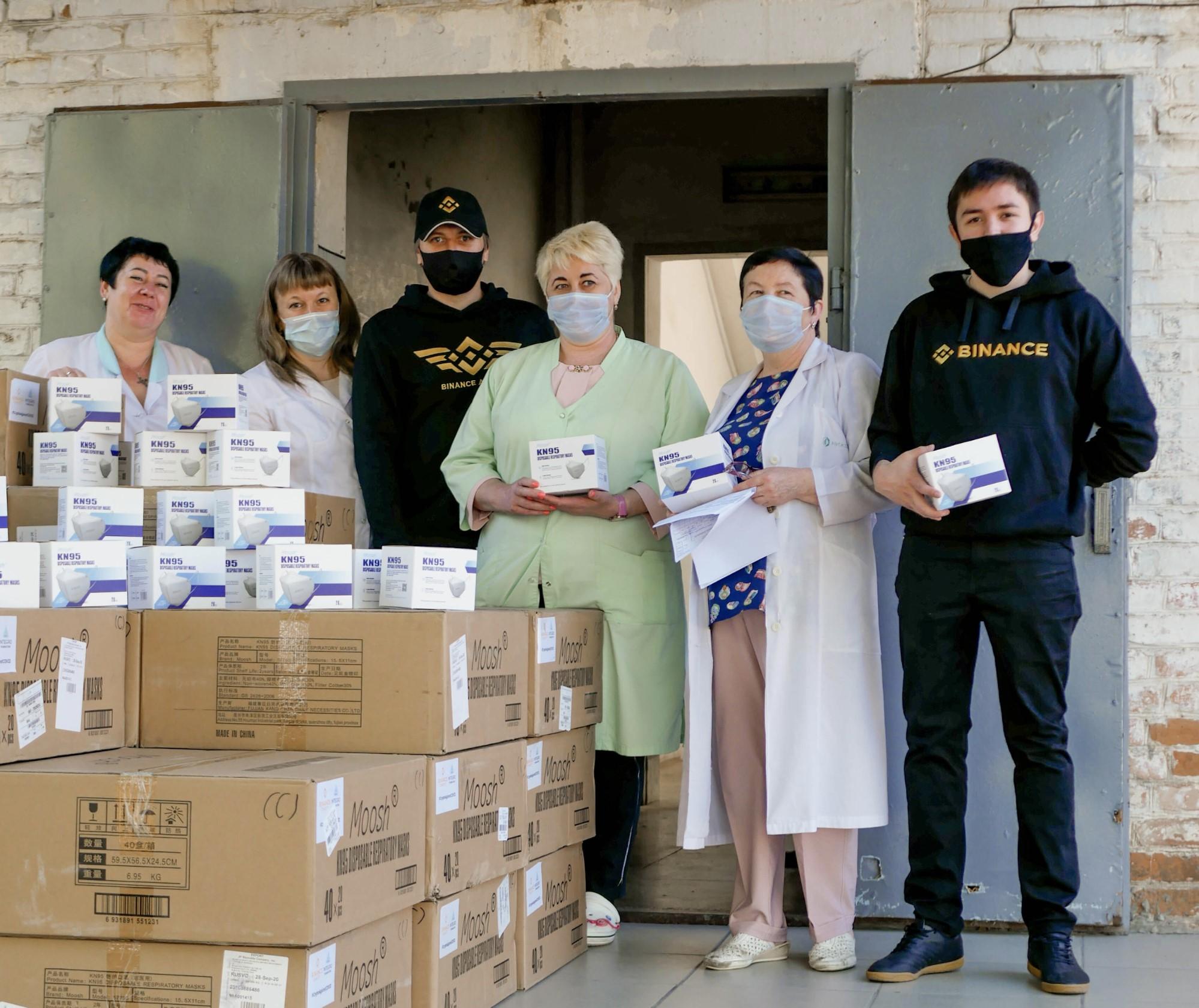 Благотворительный фонд биржи Binance передал более 20 тысяч защитных масок больнице в Краснодаре